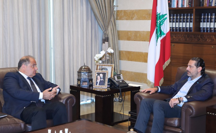 Former Pr Minister Saad Hariri meets Mr Charles Arbid