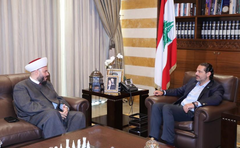 Former Pr Minister Saad Hariri meets Sheikh Hassan Merheb