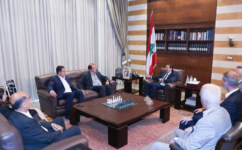 Former Pr Minister Saad Hariri meets a Delegation from Restaurants Syndicate