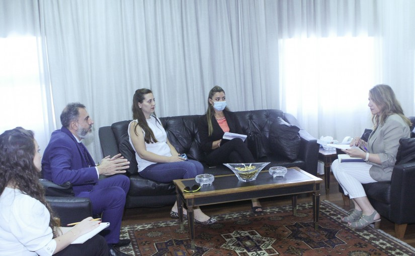 Minister Marie Claude Najem meets a Delegation from United Alliance