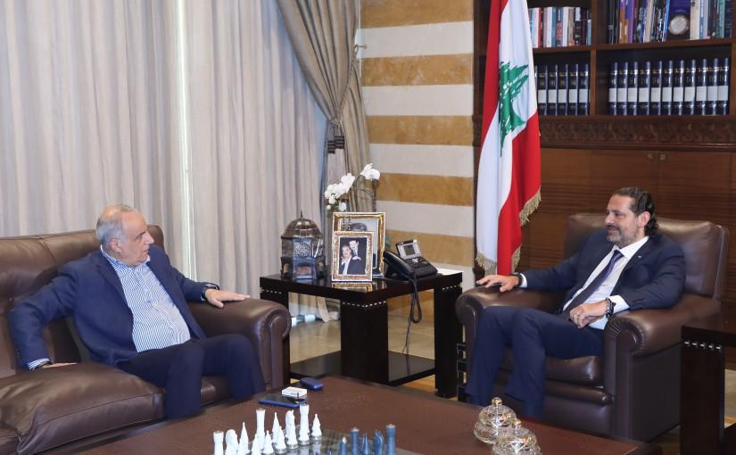 Former Pr Minister Saad Hariri meets Mr Imad Karydieh