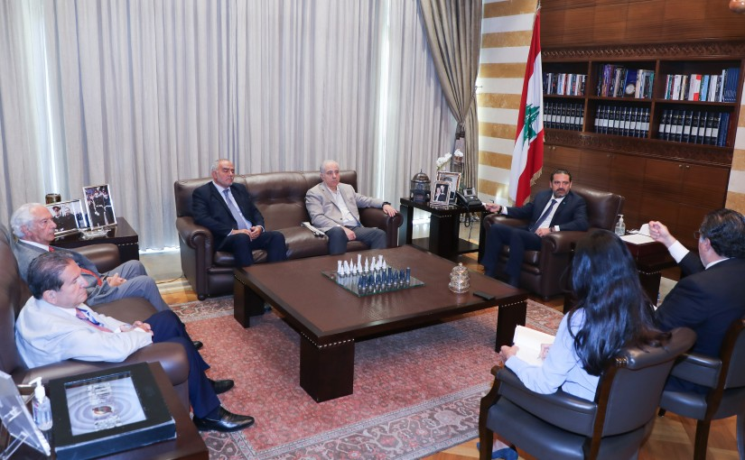 Former Pr Minister Saad Hariri meets Former Minister Mohamad Choukair with a Delegation