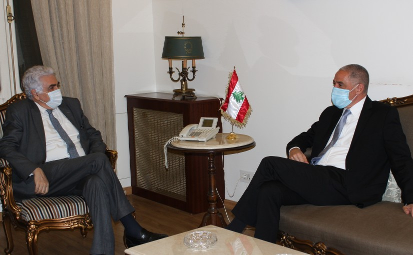 Minister Nassif Hiti meets European Ambassador