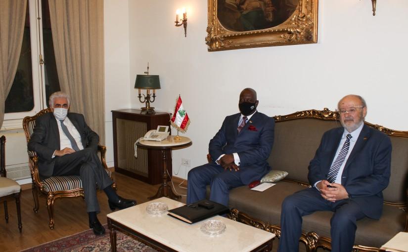 Minister Nassif Hiti meets Gabon Ambassador