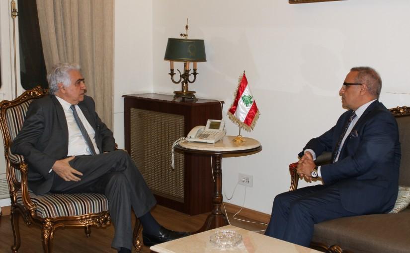 Minister Nassif Hiti meets Tunisian Ambassador