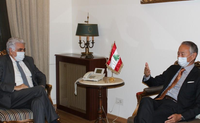 Minister Nassif Hiti meets Japanese Ambassador