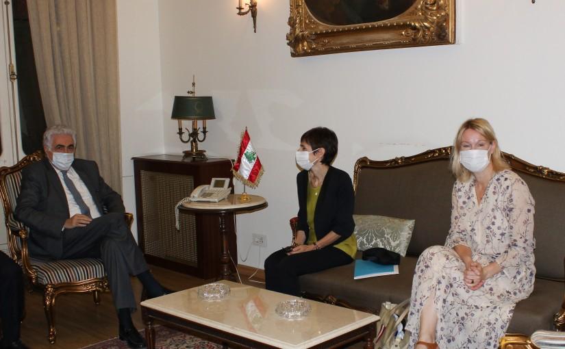 Minister Nassif Hiti meets Mrs Mireille Gerard