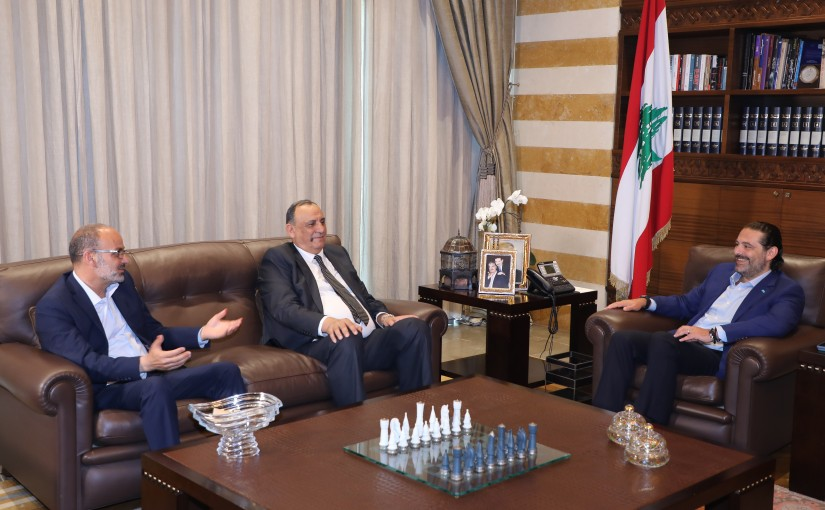 Former Pr Minister Saad Hariri meets a Delegation from Bekaa Municipalities