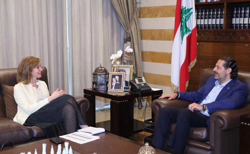 Former Pr Minister Saad Hariri meets MP Dima Jamaly