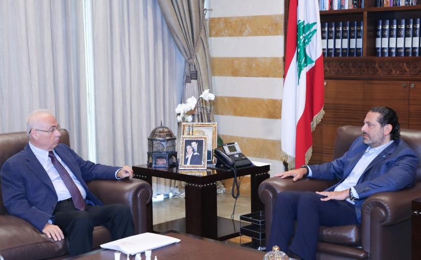 Former Pr Minister Saad Hariri meets Mr Ali Assef