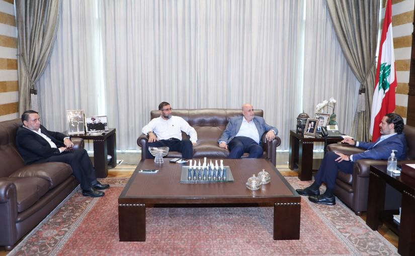 Former Pr Minister Saad Hariri meets a Delegation from Kalamoun Municipality