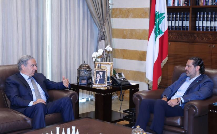 Former Pr Minister Saad Hariri meets Former Minister Michel Pharoan