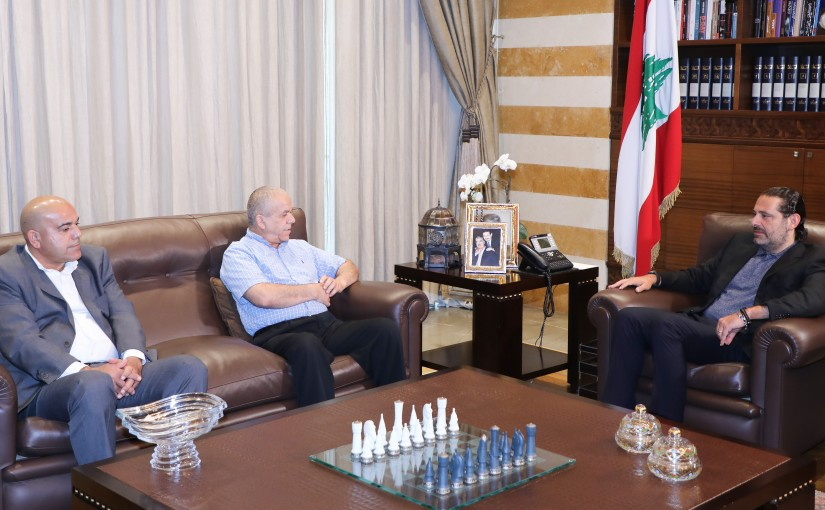 Former Pr Minister Saad Hariri meets Mr Abdel Rahman Yassine