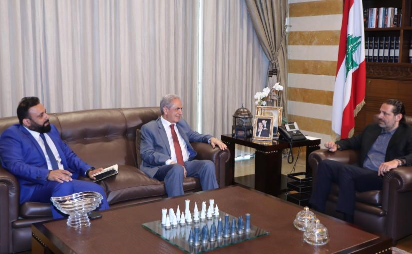 Former Pr Minister Saad Hariri meets Former MP Kasem Abdel Aziz