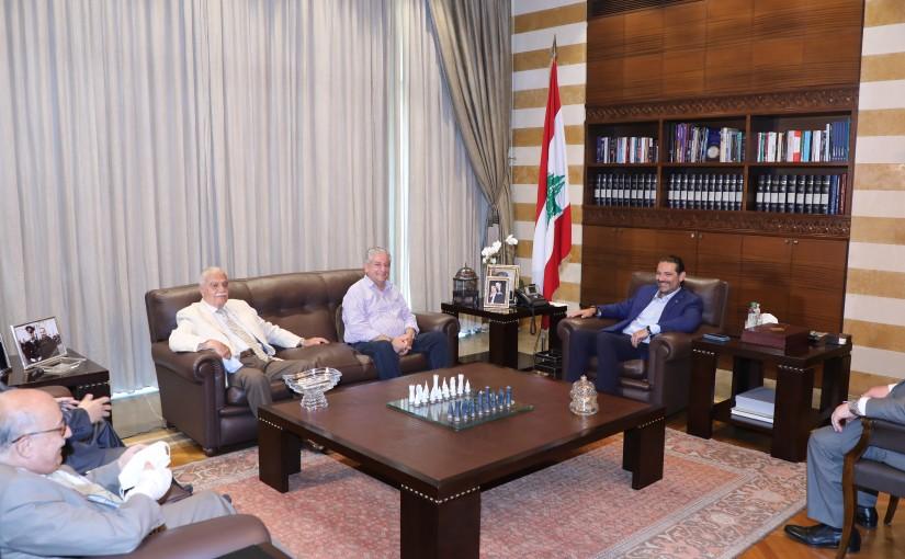 Former Pr Minister Saad Hariri meets a Delegation from Beirut Families