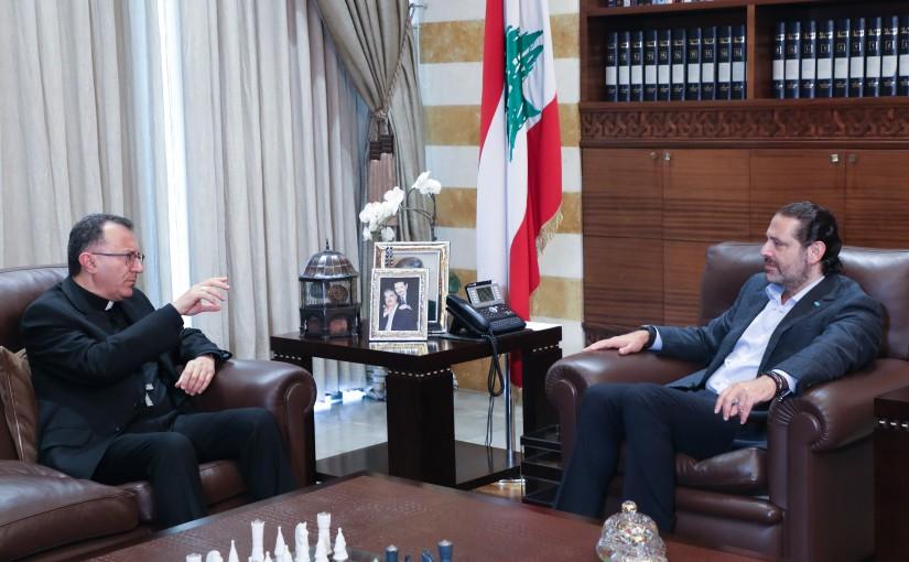 Former Pr Minister Saad Hariri meets Vatican Ambassador