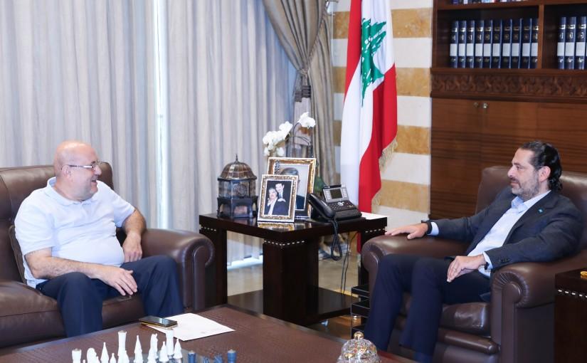 Former Pr Minister Saad Hariri meets Mr Abdalah Zakaria
