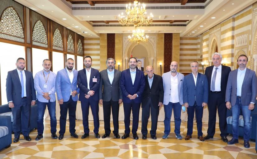Former Pr Minister Saad Hariri meets a Delegation from Nejmes