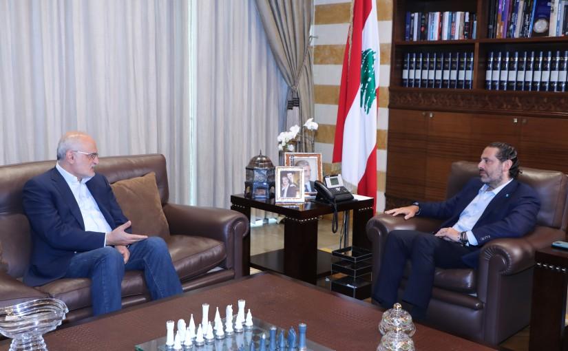 Former Pr Minister Saad Hariri meets Former Minister Ali Hussan Khalil