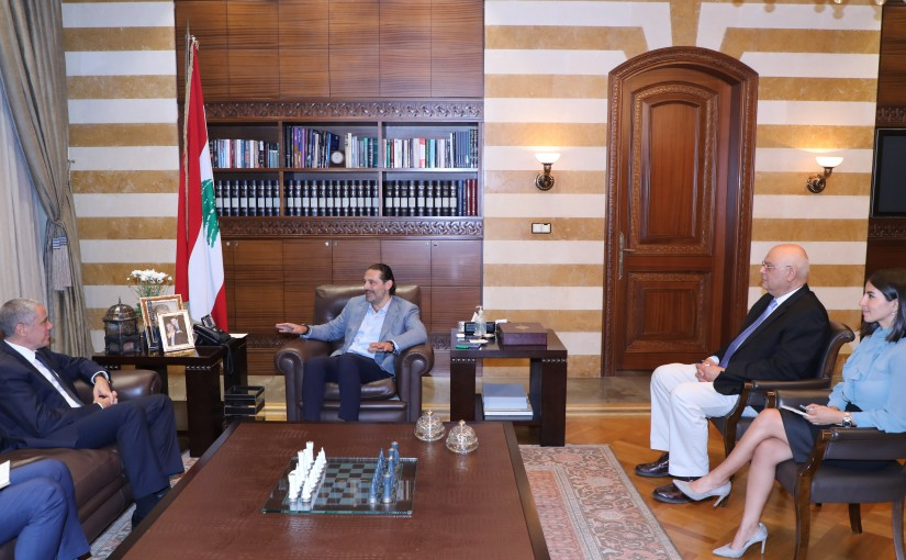 Former Pr Minister Saad Hariri meets European Ambassador