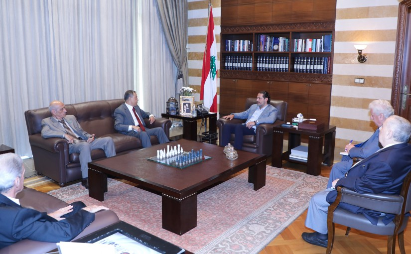 Former Pr Minister Saad Hariri meets a Delegation from Beirut Families