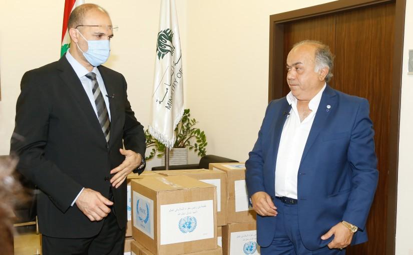 Minister Hassan Hamad meets Mr Ghassan Daghlala