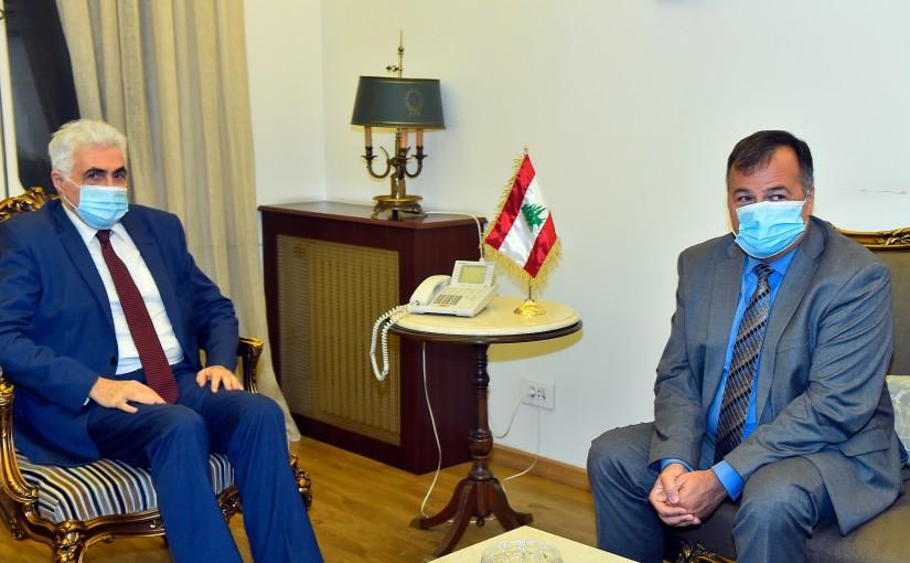 Minister Nassif Hiti meets Bulgarian Ambassador