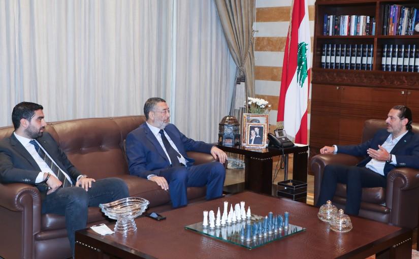 Former Pr Minister Saad Hariri meets Former MP Assad Harmouch