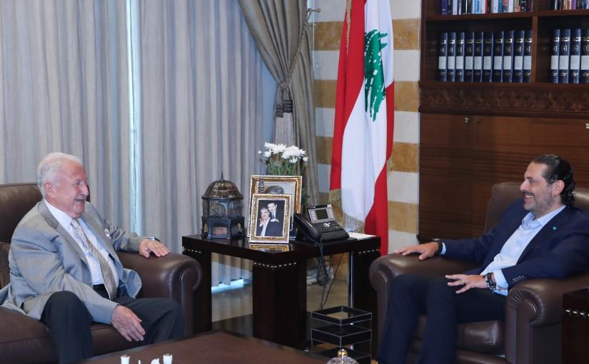 Former Pr Minister Saad Hariri meets Mr Toufic Soultan