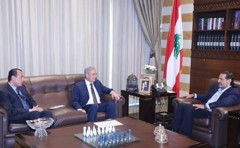 Former Pr Minister Saad Hariri meets Former MP Kassem Abdel Aziz