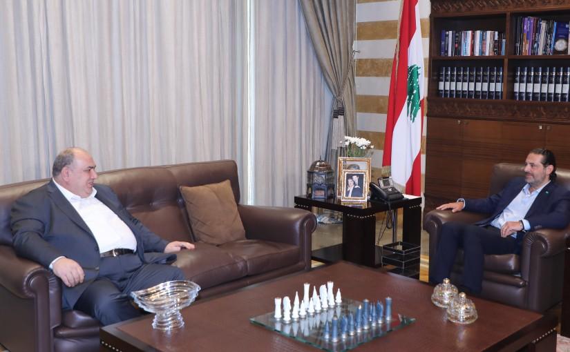 Former Pr Minister Saad Hariri meets Former MP Sebouh Kalbakian