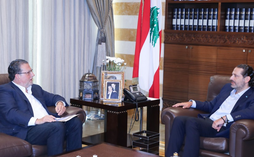 Former Pr Minister Saad Hariri meets Former Minister Mohamad Choukair