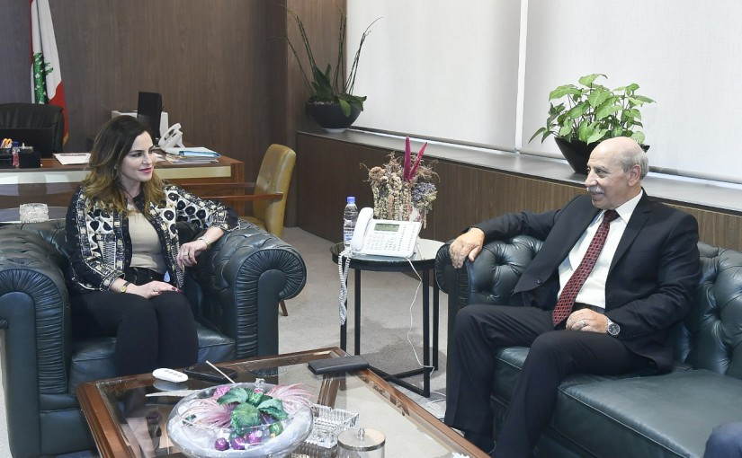 Minister Manal Abdel Samad meets Palestinian Delegation