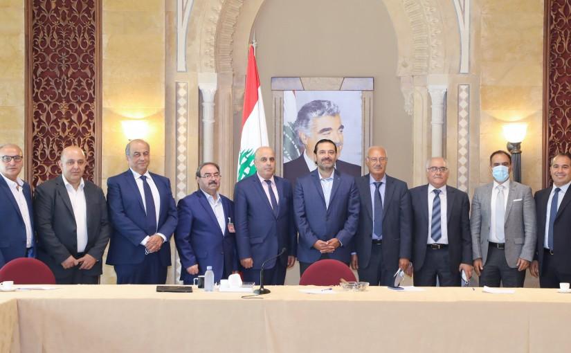 Former Pr Minister Saad Hariri meets a Delegation from Bekaa