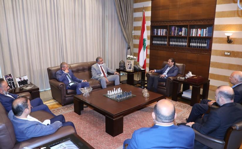 Former Pr Minister Saad Hariri meets Mr Khaled Itani