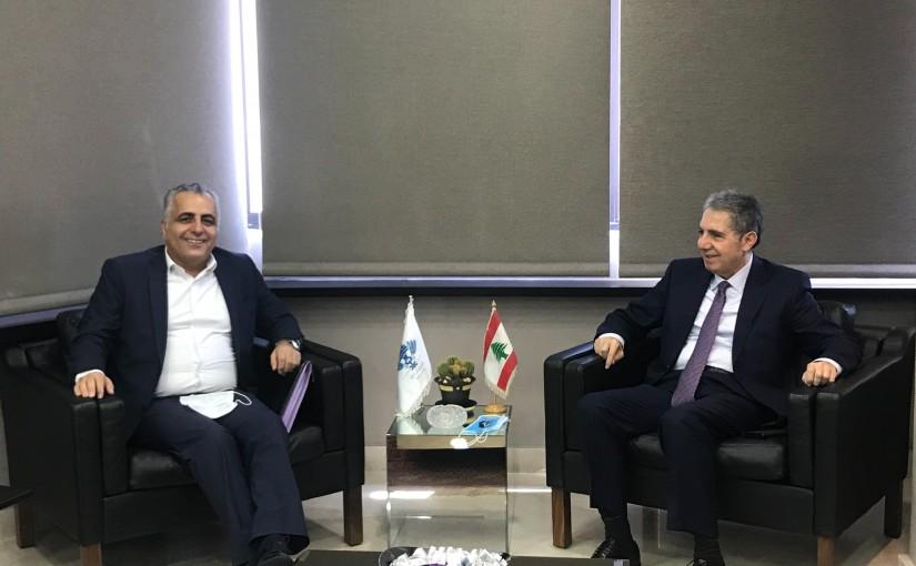 Minister Ghazi Wazni meets Mr Mouhamad Karaki