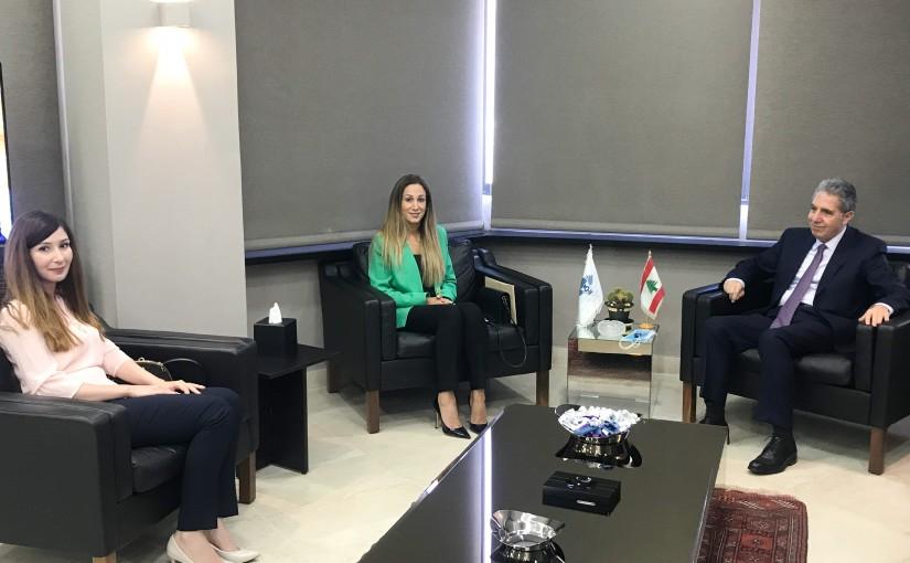 Minister Ghazi Wazni meets Mrs Khristelle Wakim