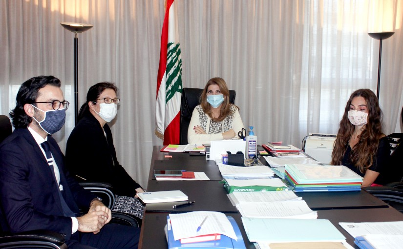 Minister Marie Claude Najem meets a Delegation from United Nation