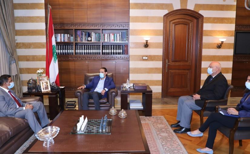 Former Pr Minister Saad Hariri meets Pakistan Ambassador