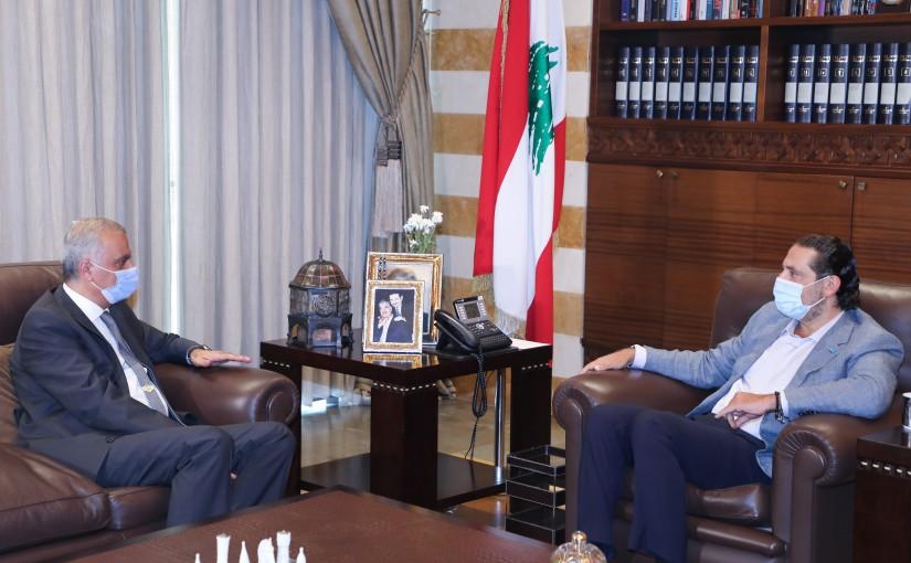 Former Pr Minister Saad Hariri meets Mr Mehedine Fatthala