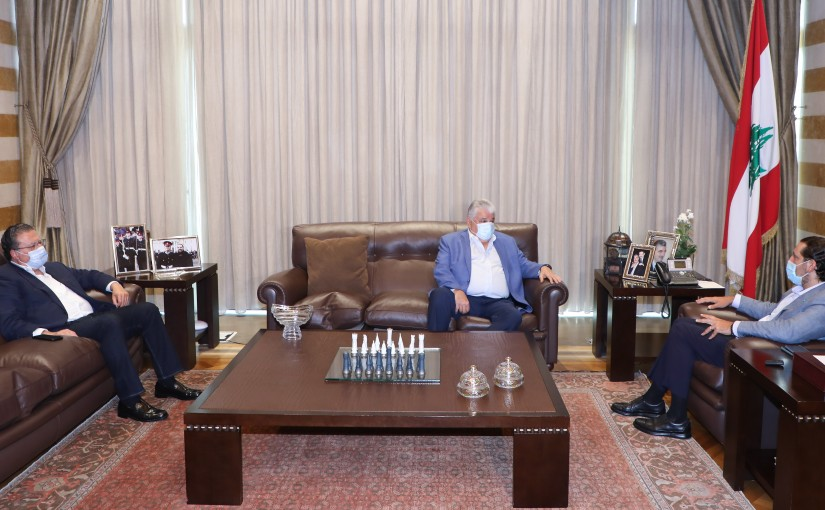 Former Pr Minister Saad Hariri meets Former Minister Mohamad Choukair