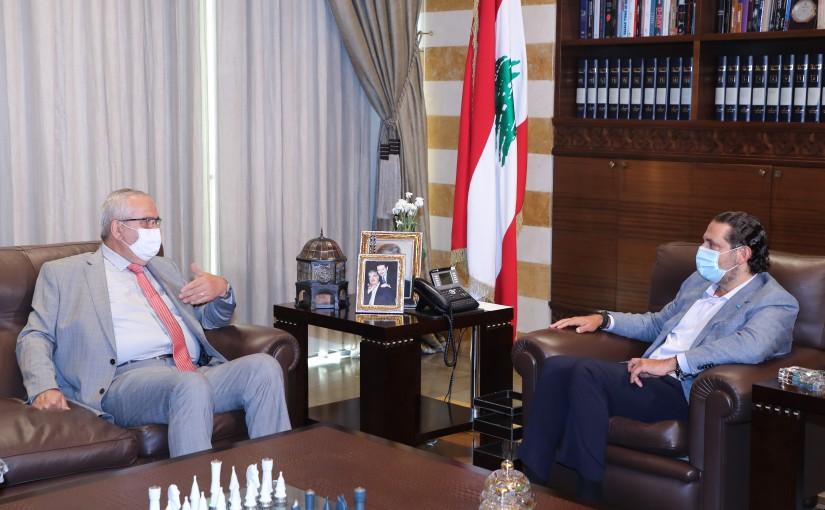 Former Pr Minister Saad Hariri meets Mr Mouhamad Manssour