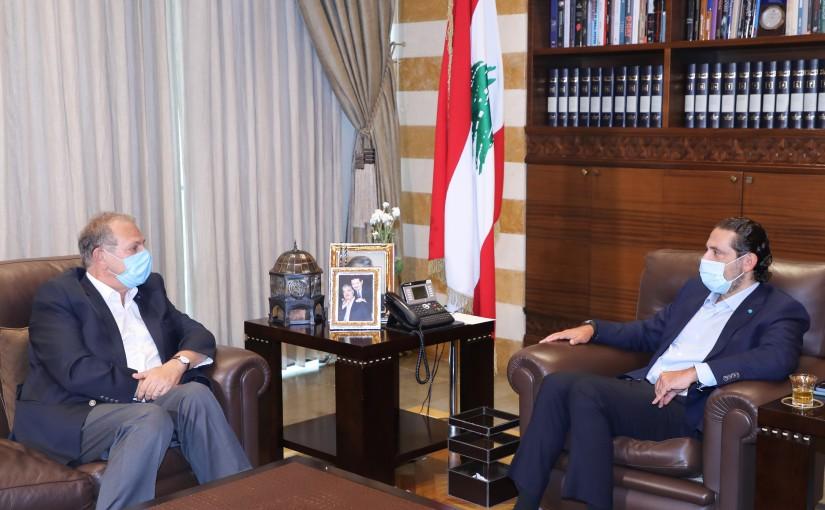 Former Pr Minister Saad Hariri meets Former Minister Nabil de Freij