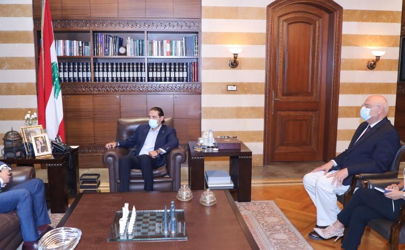 Former Pr Minister Saad Hariri meets Uruguay Ambassador