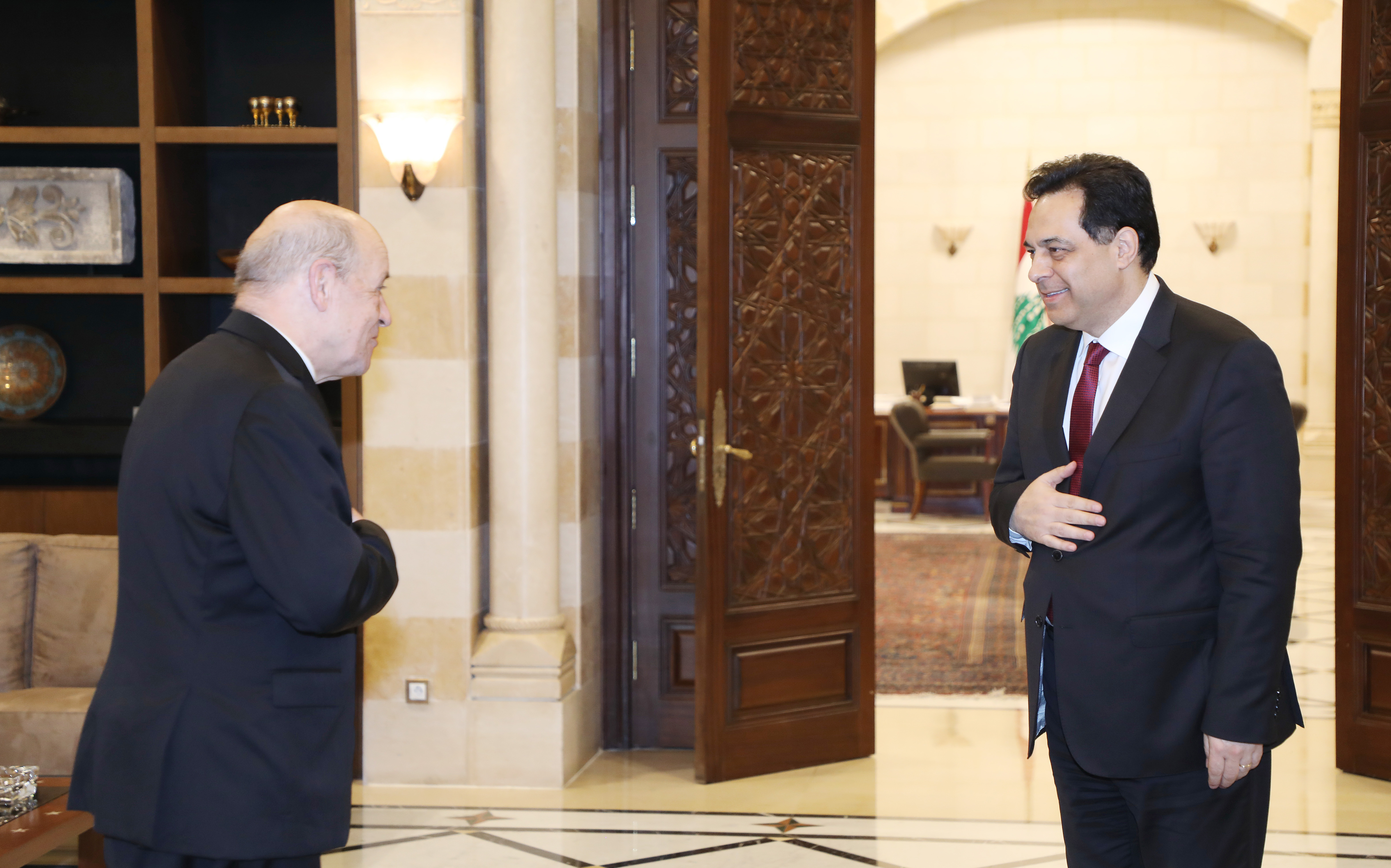 Pr Minister Hassan Diab meets French Minister of Foreign Affairs 3