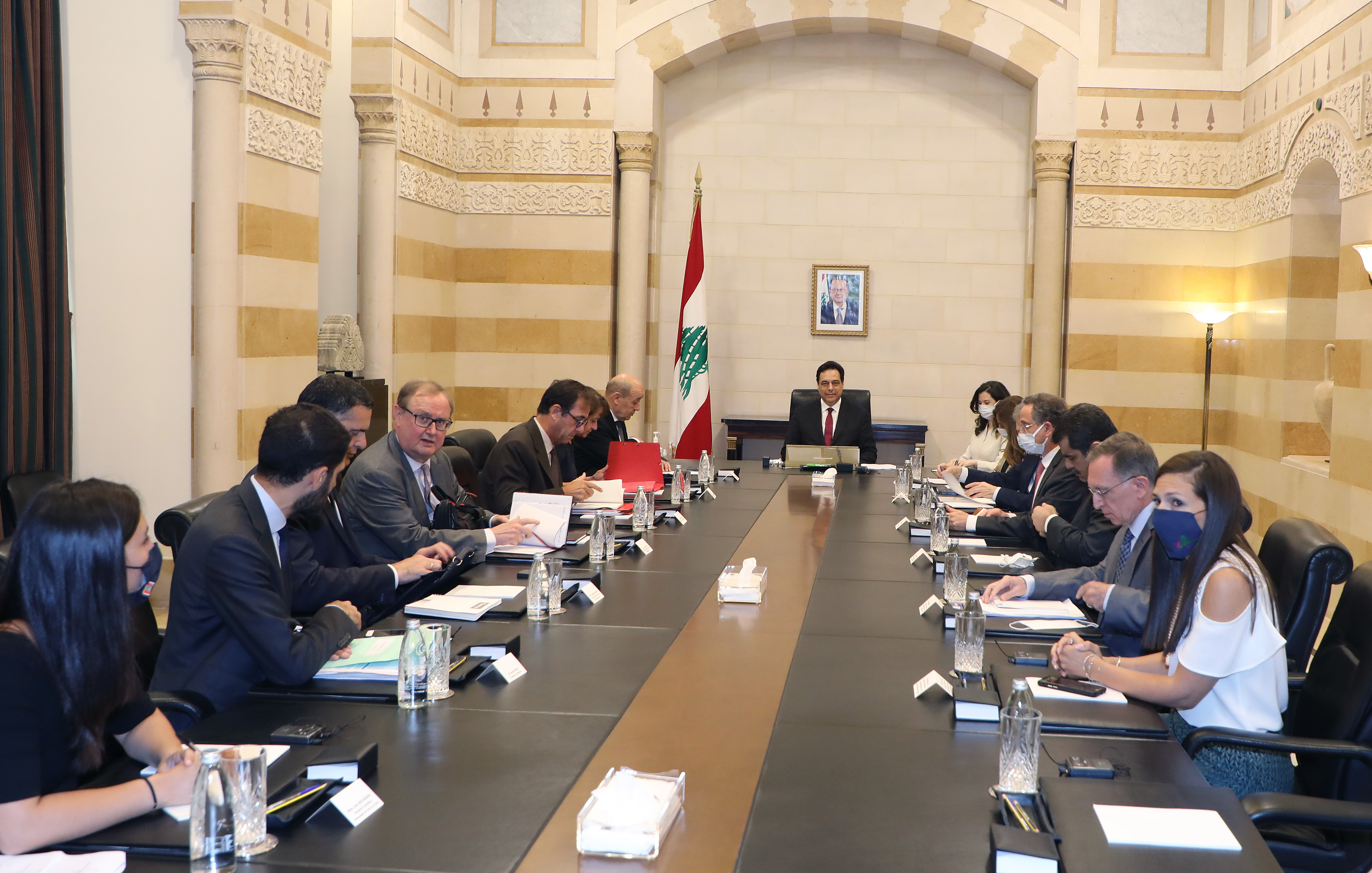 Pr Minister Hassan Diab meets French Minister of Foreign Affairs 6
