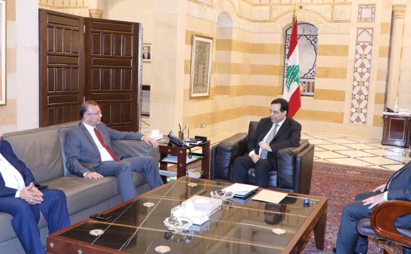 Pr Minister Hassan Diab meets MP Ali Darwish & MP Moustapha Housein