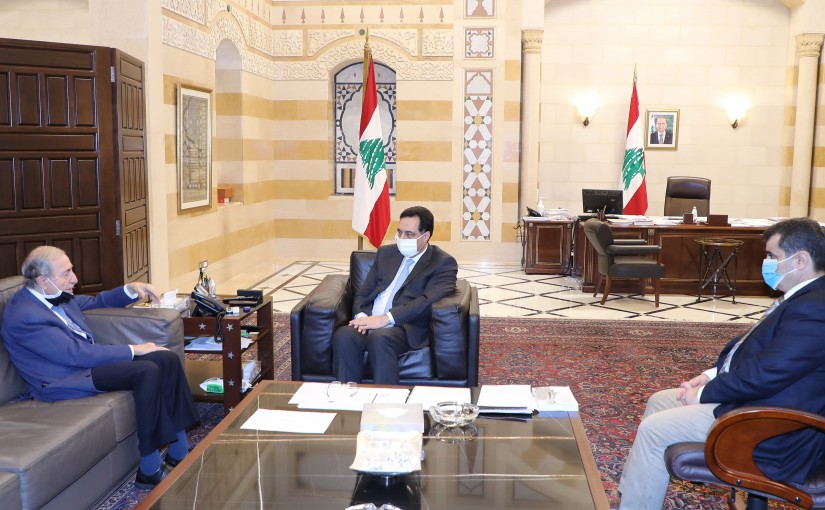 Pr Minister Hassan Diab meets MP Anwar Khalil