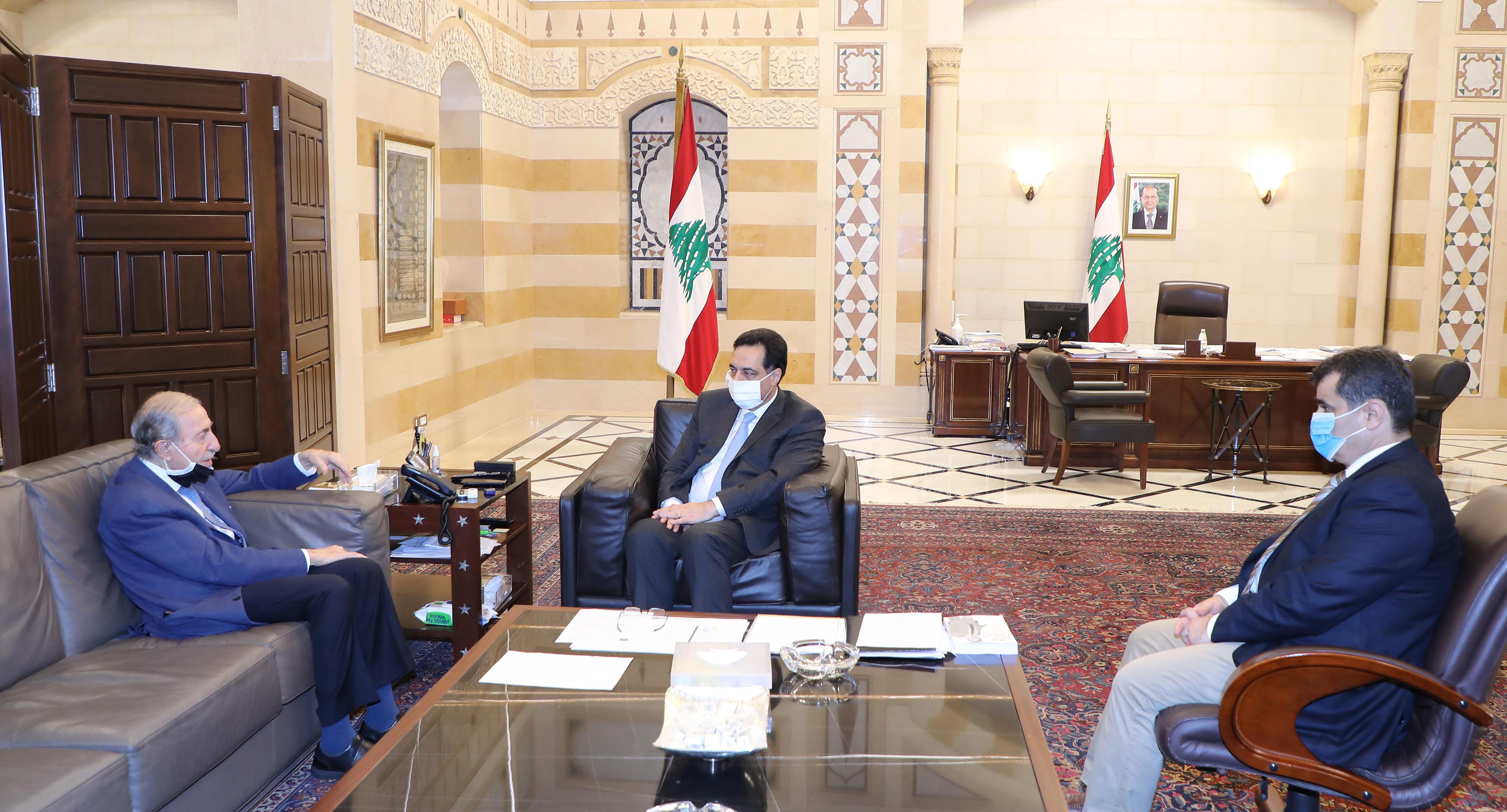 Pr Minister Hassan Diab meets MP Anwar el Khalil