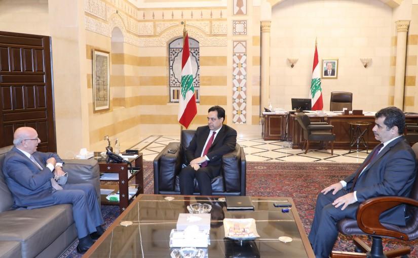 Pr Minister Hassan Diab meets Former Minister Chakib Kertbaoui